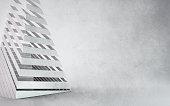 Minimalistic render of a polished sliced pyramid