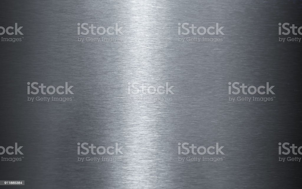 Polished stainless steel sheet texture stock photo