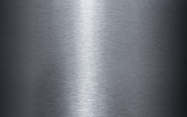 polished stainless steel sheet texture - steel stock photos and pictures
