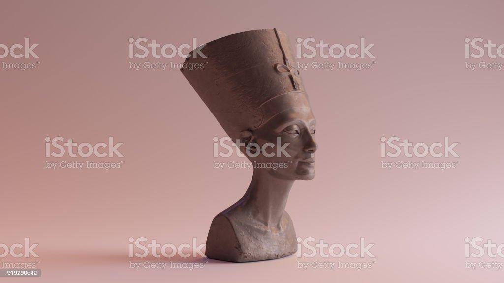Polished Stone Bust of Nefertiti stock photo
