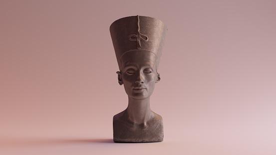 Polished Stone Bust of Nefertiti