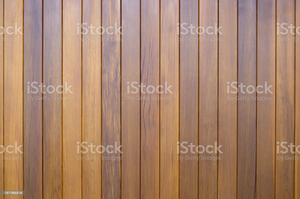 Polished wooden slats stock photo