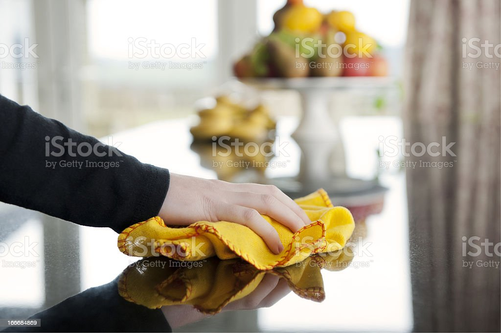 polishing stock photo