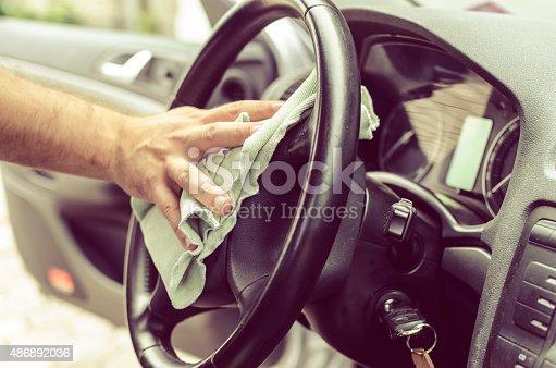 istock Polishing steering wheel 486892036