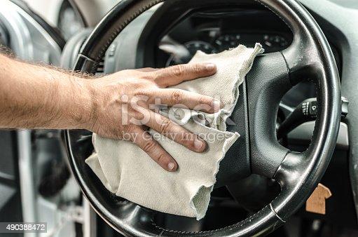 istock Polishing steering wheel 490388472