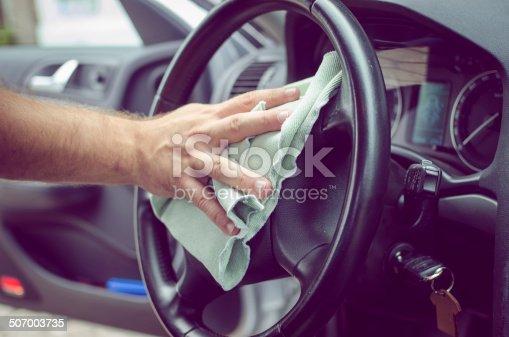 istock Polishing steering wheel 507003735