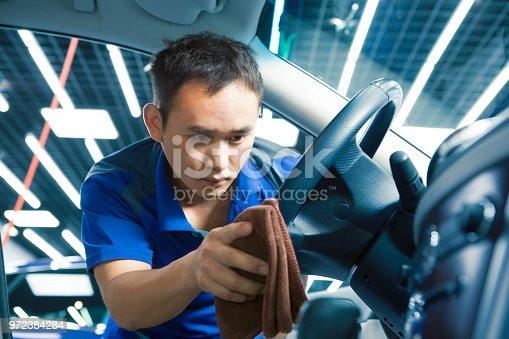 istock Polishing steering wheel 972384284