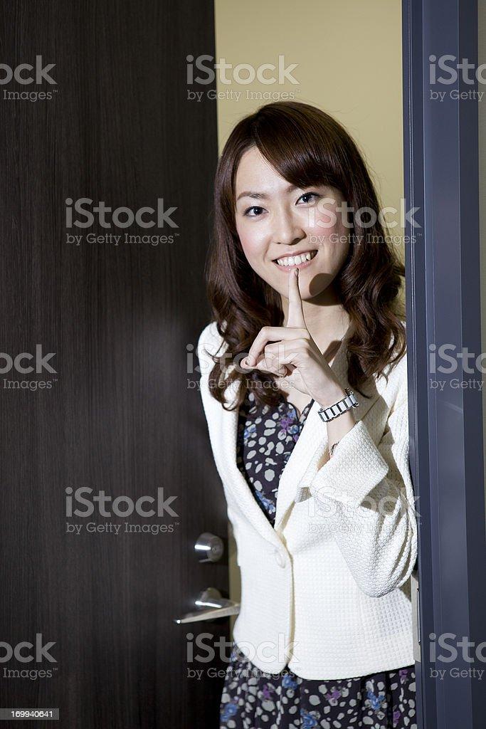 Polite Shhh royalty-free stock photo