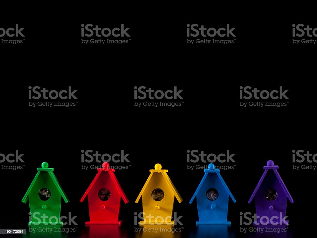 Political Bird Houses stock photo