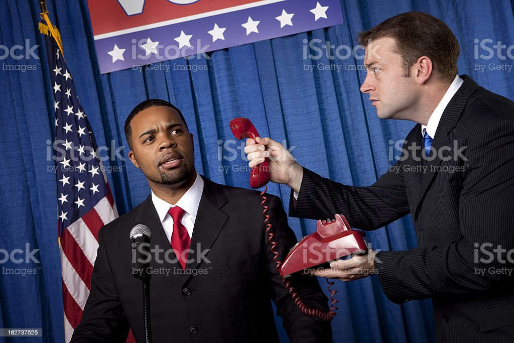 Political Clue Phone royalty-free stock photo