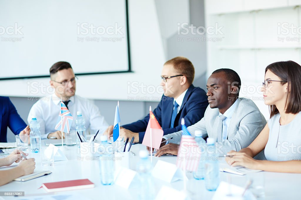Political convention stock photo