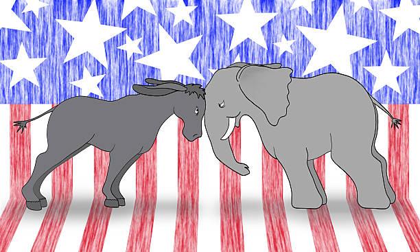 политические дебаты mascots - presidential debate стоковые фото и изображения