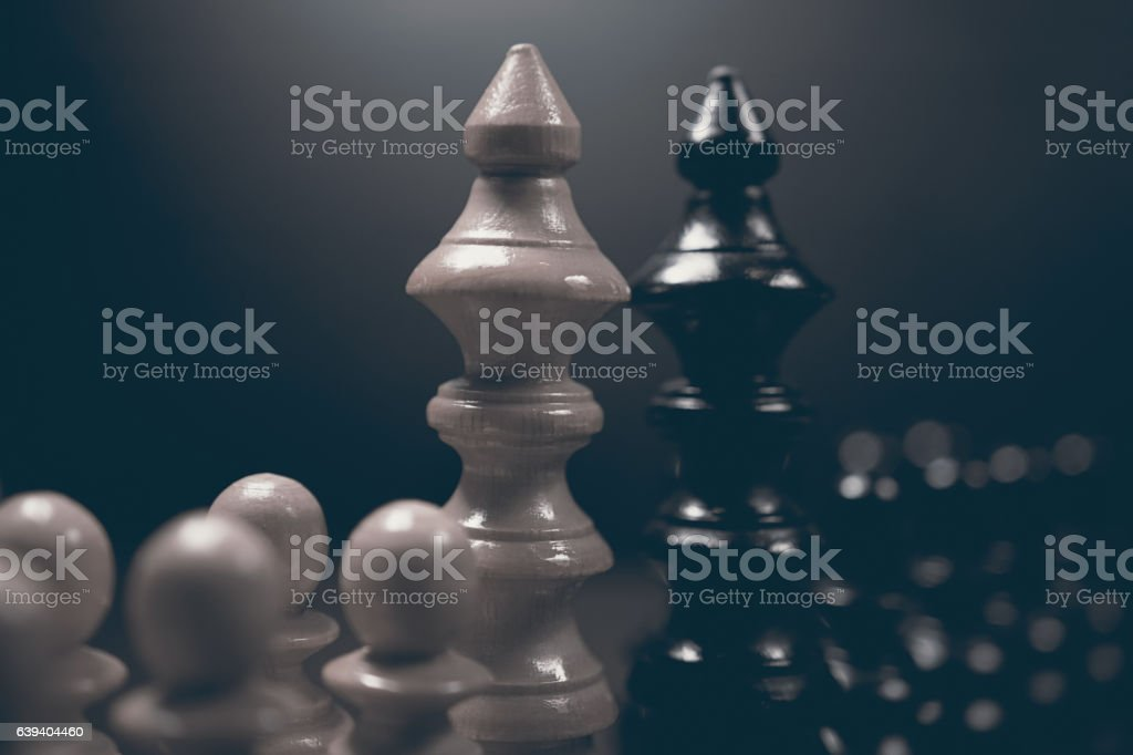 Political dialogue. Danger chess game. Conflict of interest. stock photo