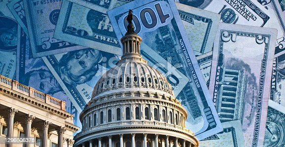 istock Political fund raising for Congress - running for reelection - washington politics 1296606378