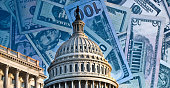 istock Political fund raising for Congress - running for reelection - washington politics 1296606378