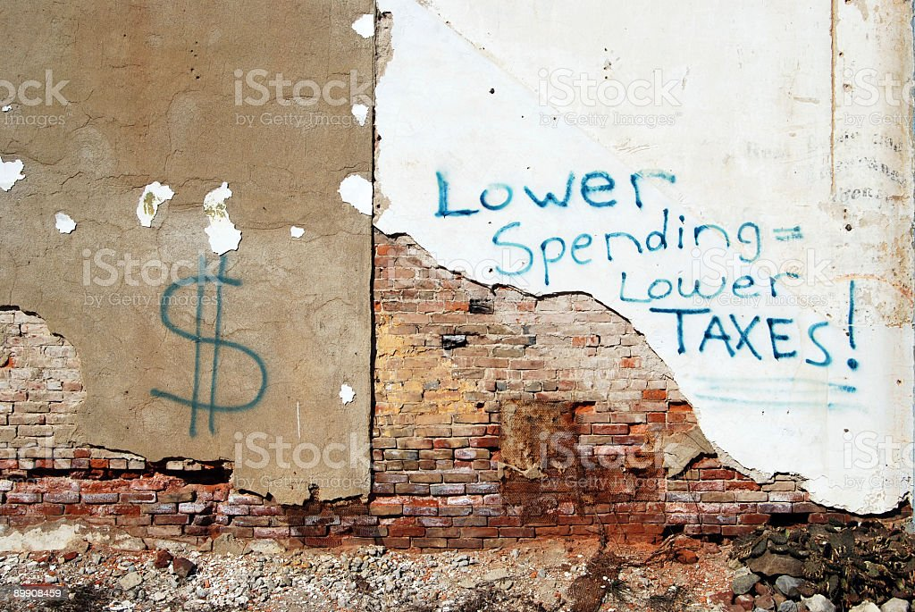 Political Graffiti royalty-free stock photo