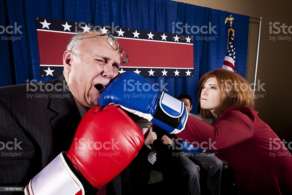 Political Lights Out stock photo