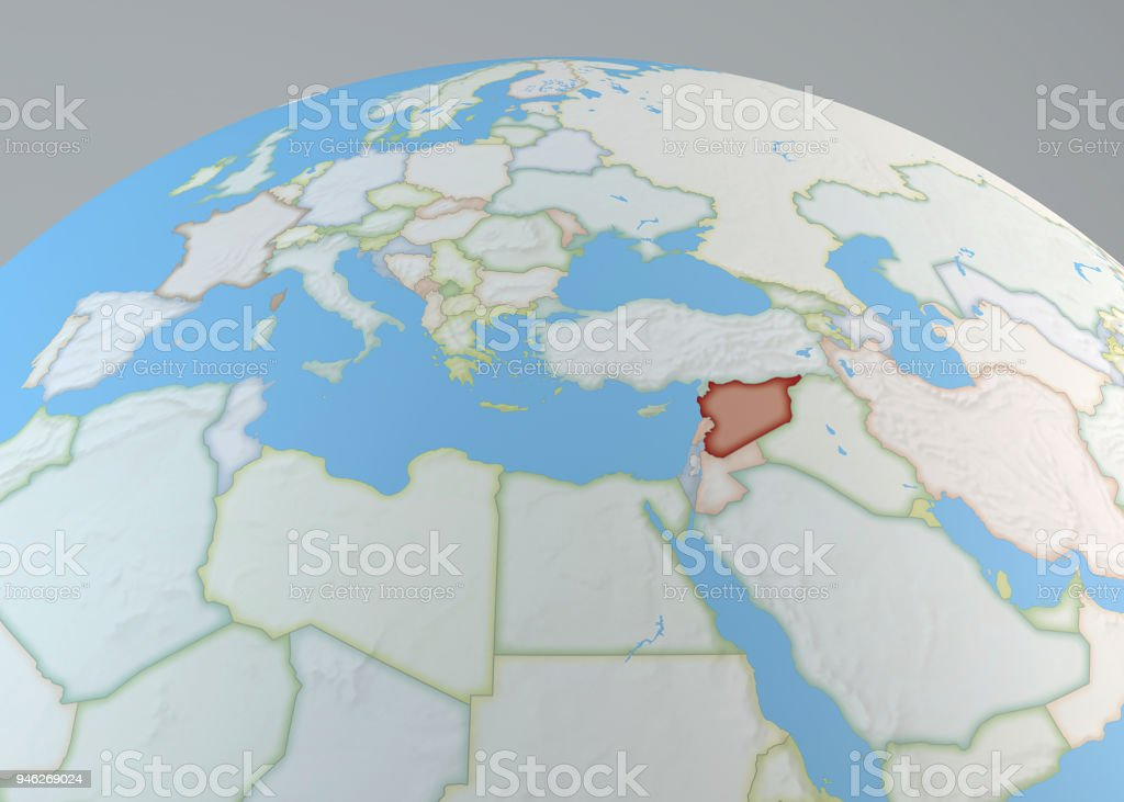 Political Map Of Syria Europe Africa And The Middle East Political ...
