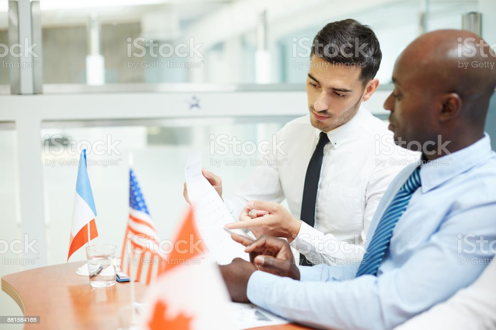 Political negotiation stock photo