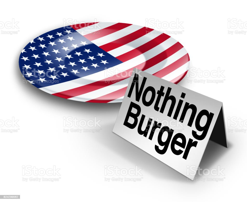 Political Nothing Burger stock photo