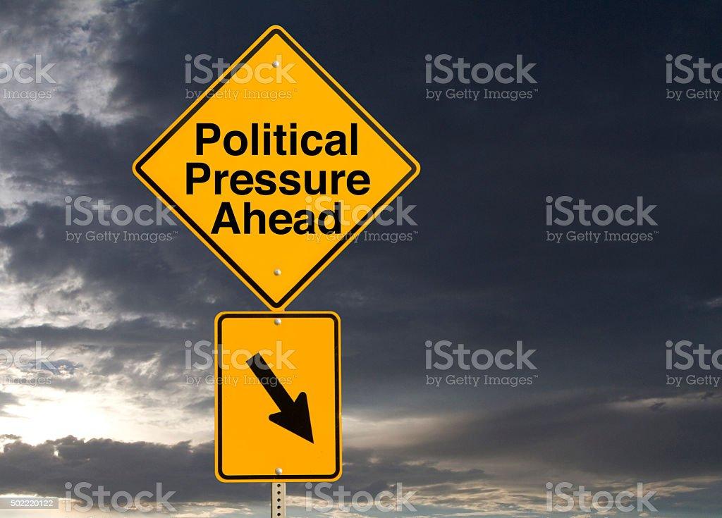 Political Pressure Ahead stock photo