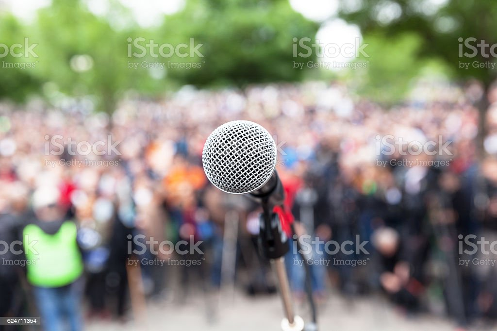 Political protest. Public demonstration. stock photo