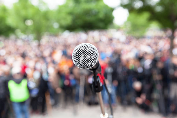 political protest. public demonstration. - social issues stock photos and pictures