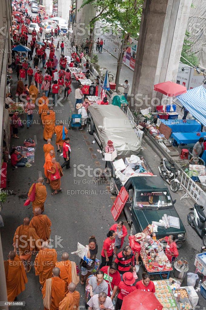 Political Protests In Bangkok Thailand stock photo