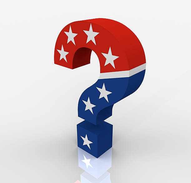 Political Question Mark stock photo