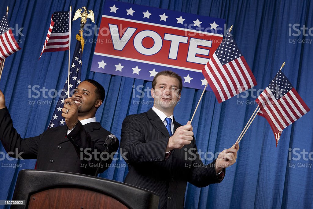Political Rally royalty-free stock photo