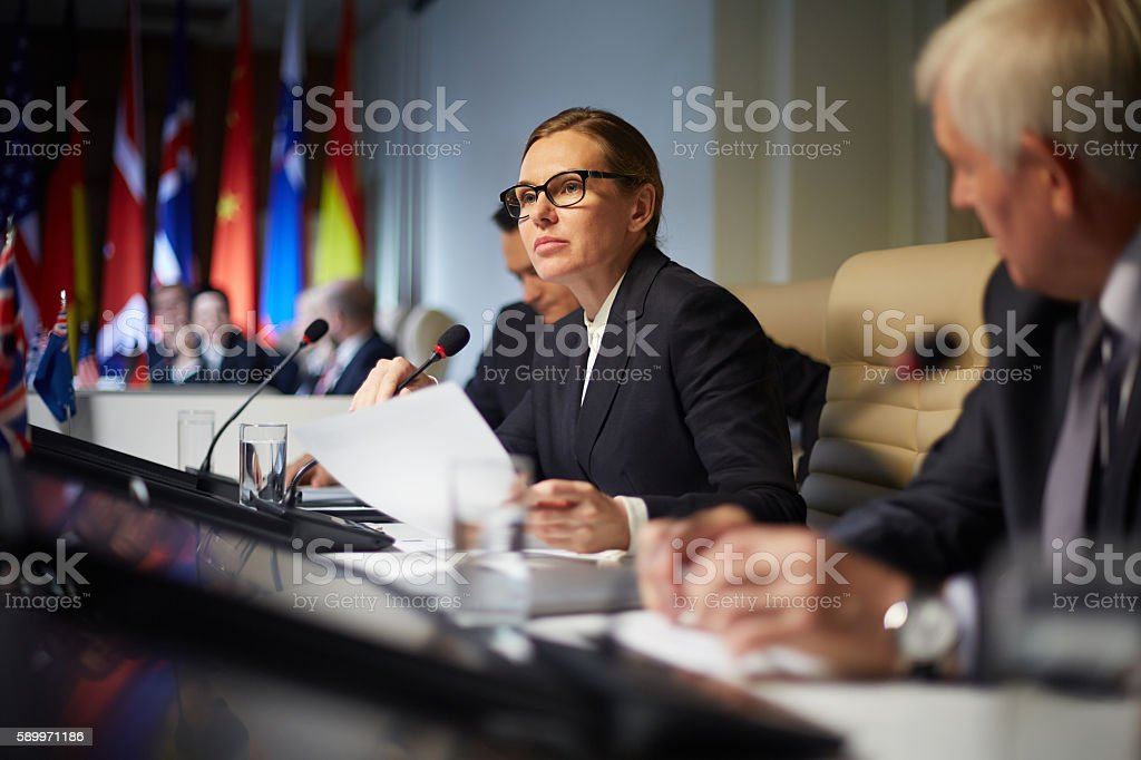 Political report stock photo