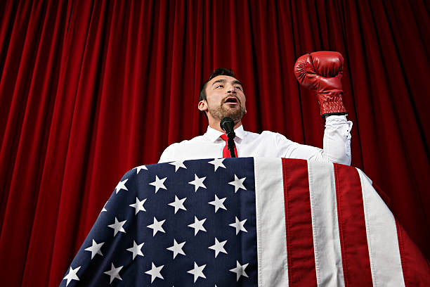 Politician Boxing Glove stock photo