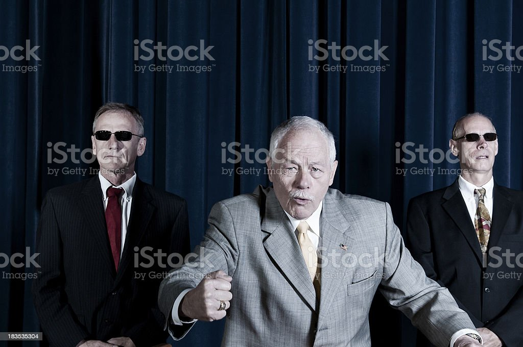 Politician  delivering a speech - II stock photo
