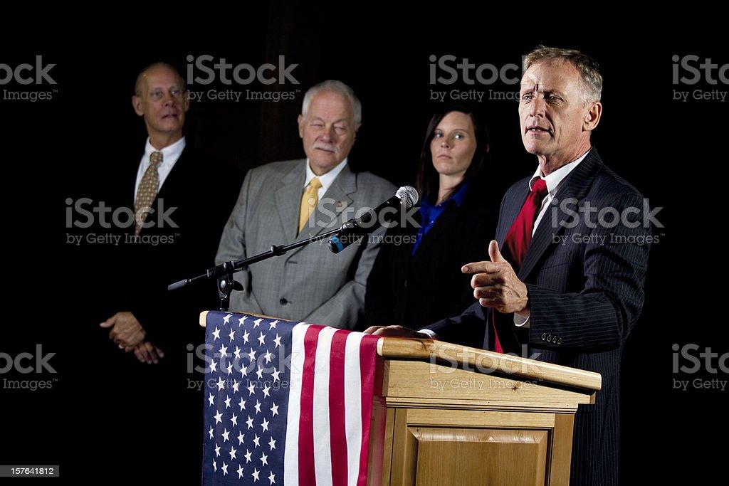 Politician Giving a Speech stock photo