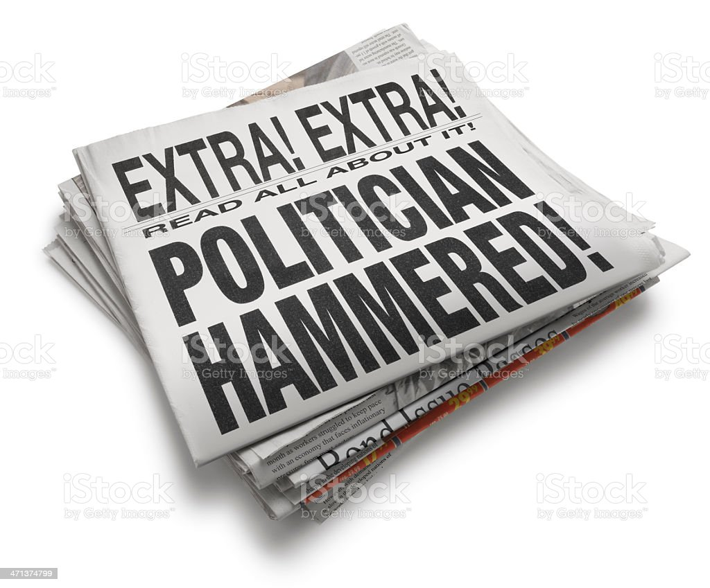 Politician Hammered! royalty-free stock photo