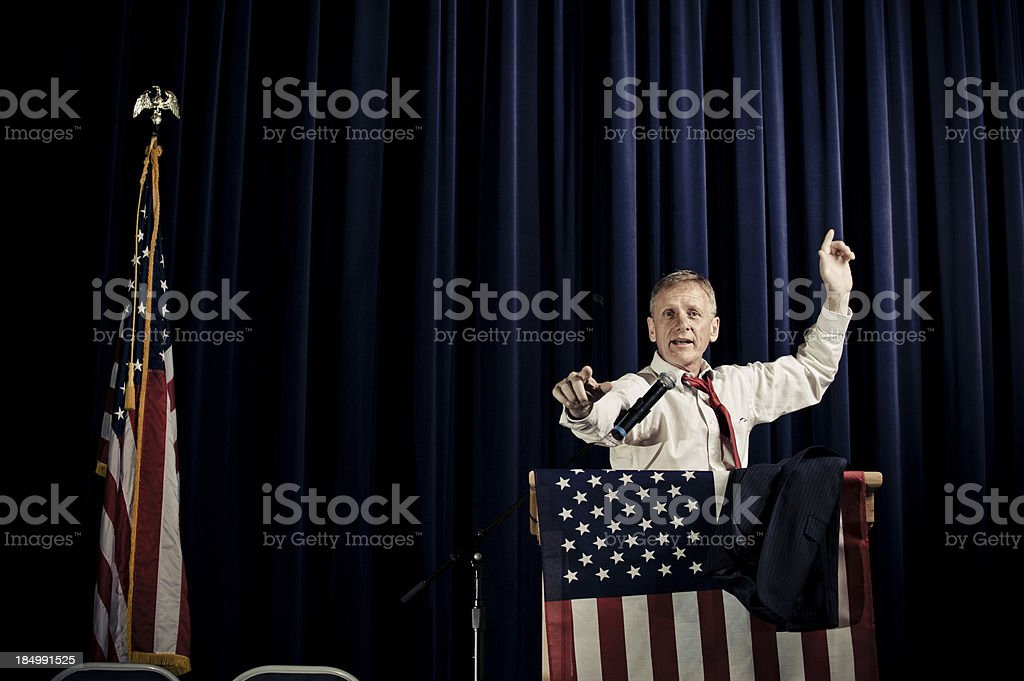 Politician Making a Point stock photo