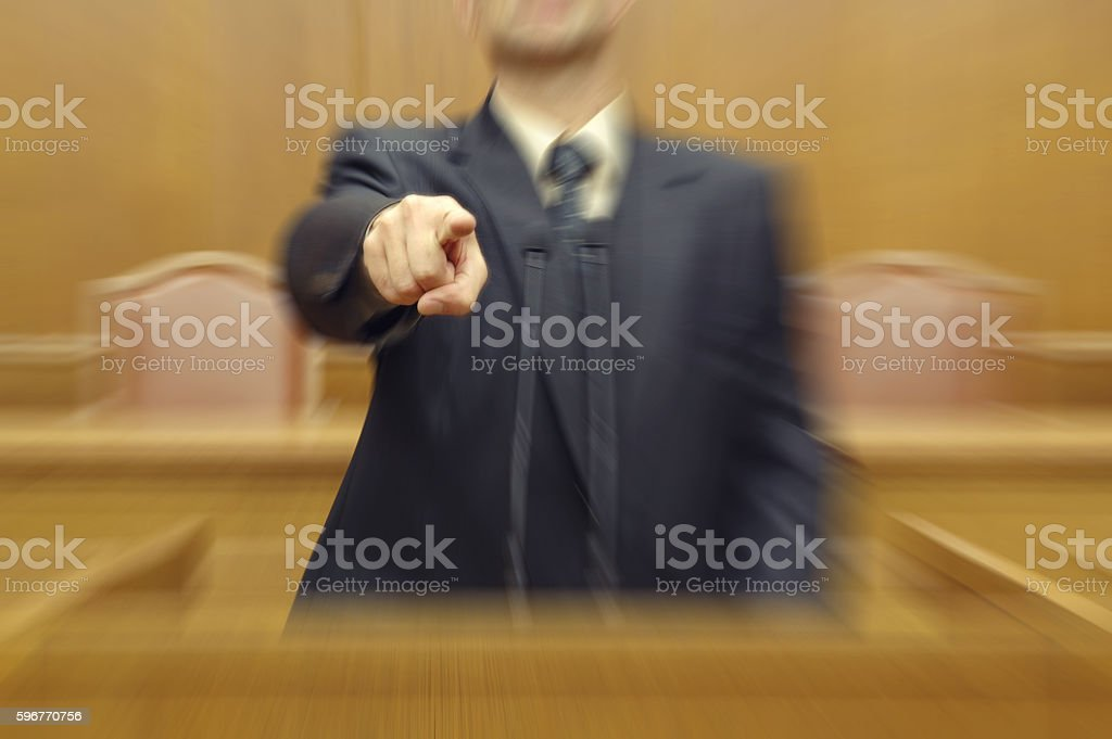 Politician pointing directly at viewer, calling to vote on elections stock photo