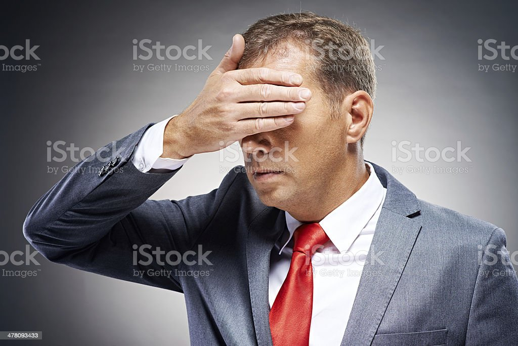 Politician seeing no evil royalty-free stock photo