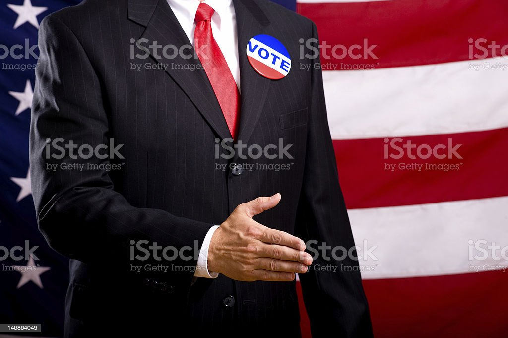 Politician Shaking Hands royalty-free stock photo