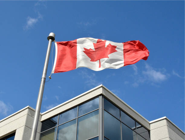 Politics, Canada Flag. stock photo