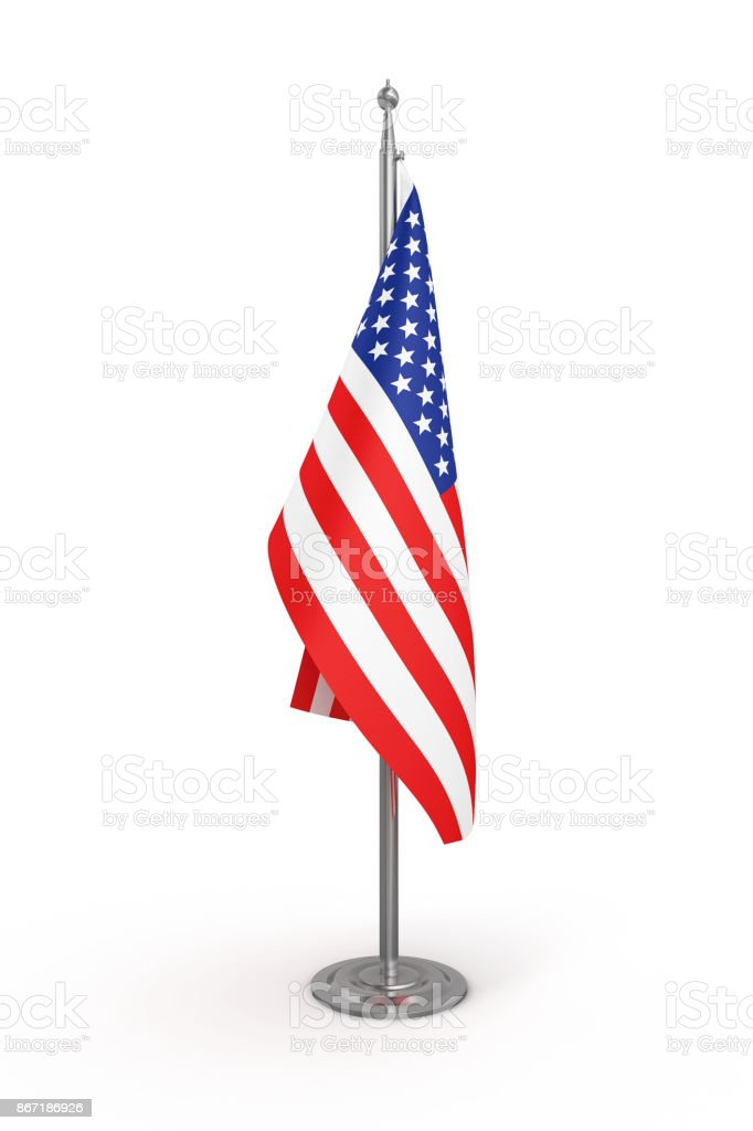 Politics Flag of America (USA) - Isolated White Background-Clipping Path stock photo