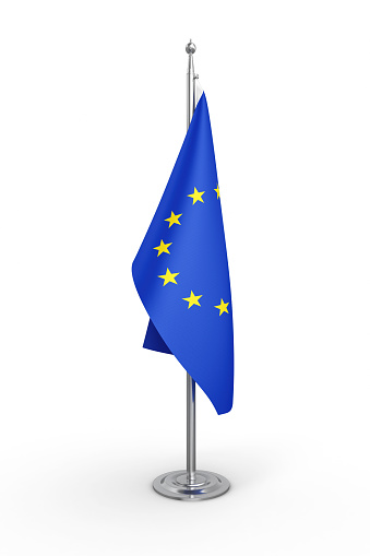Politics Flag of Europe - Isolated White Background-Clipping Path