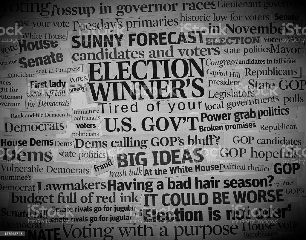 US politics headlines collage I royalty-free stock photo