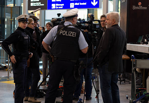 Polizei in Frankfurt airport - Photo