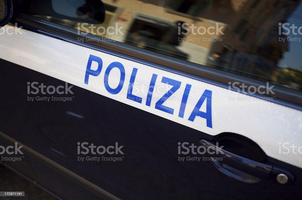 Polizia car stock photo