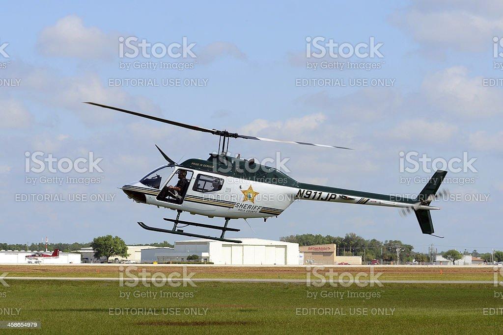 Polk County, FL Sheriff helicopter stock photo
