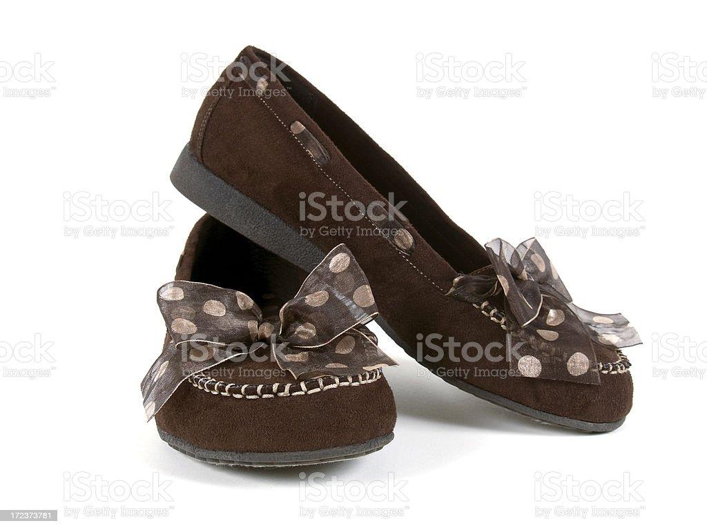 Polka Dot Loafers royalty-free stock photo