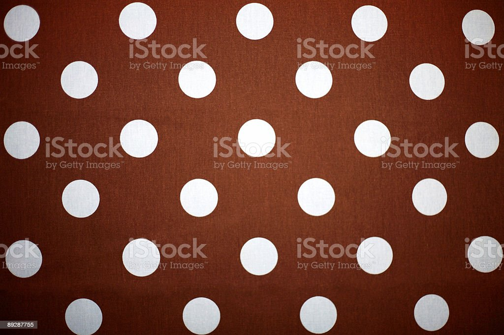 polka dot material - brown and blue royalty-free stock photo