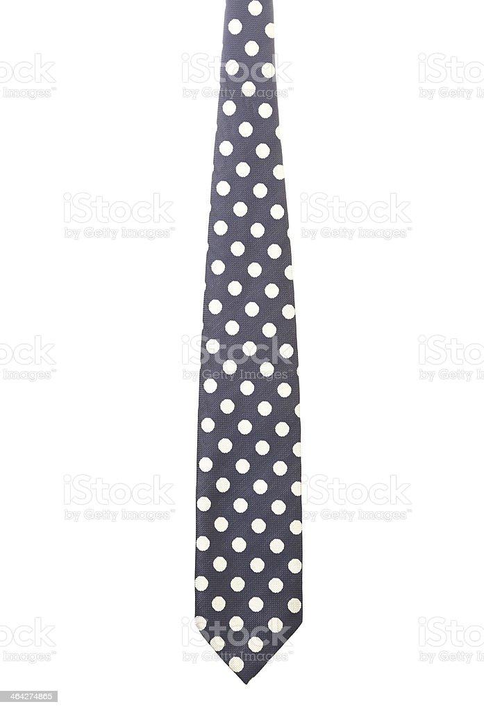Polka dot necktie. Vertical. stock photo