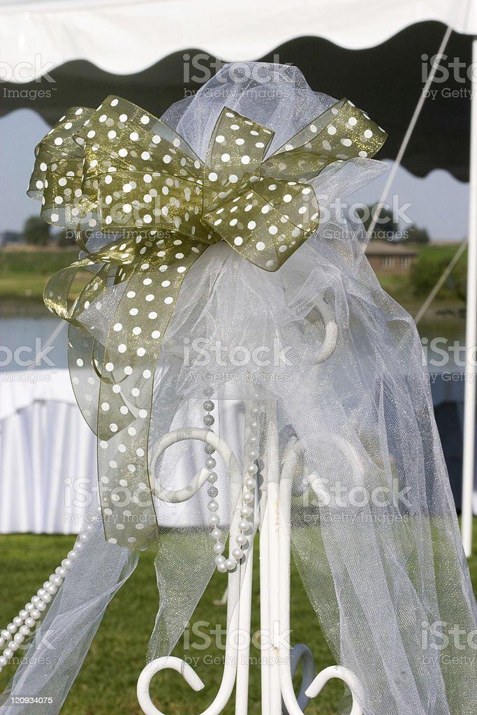 Polka Dot Ribbon Decoration royalty-free stock photo